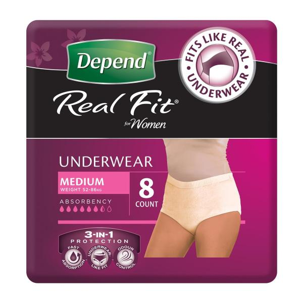 Buy Depend Adult Care Real-Fit Female Diapers - M Singapore