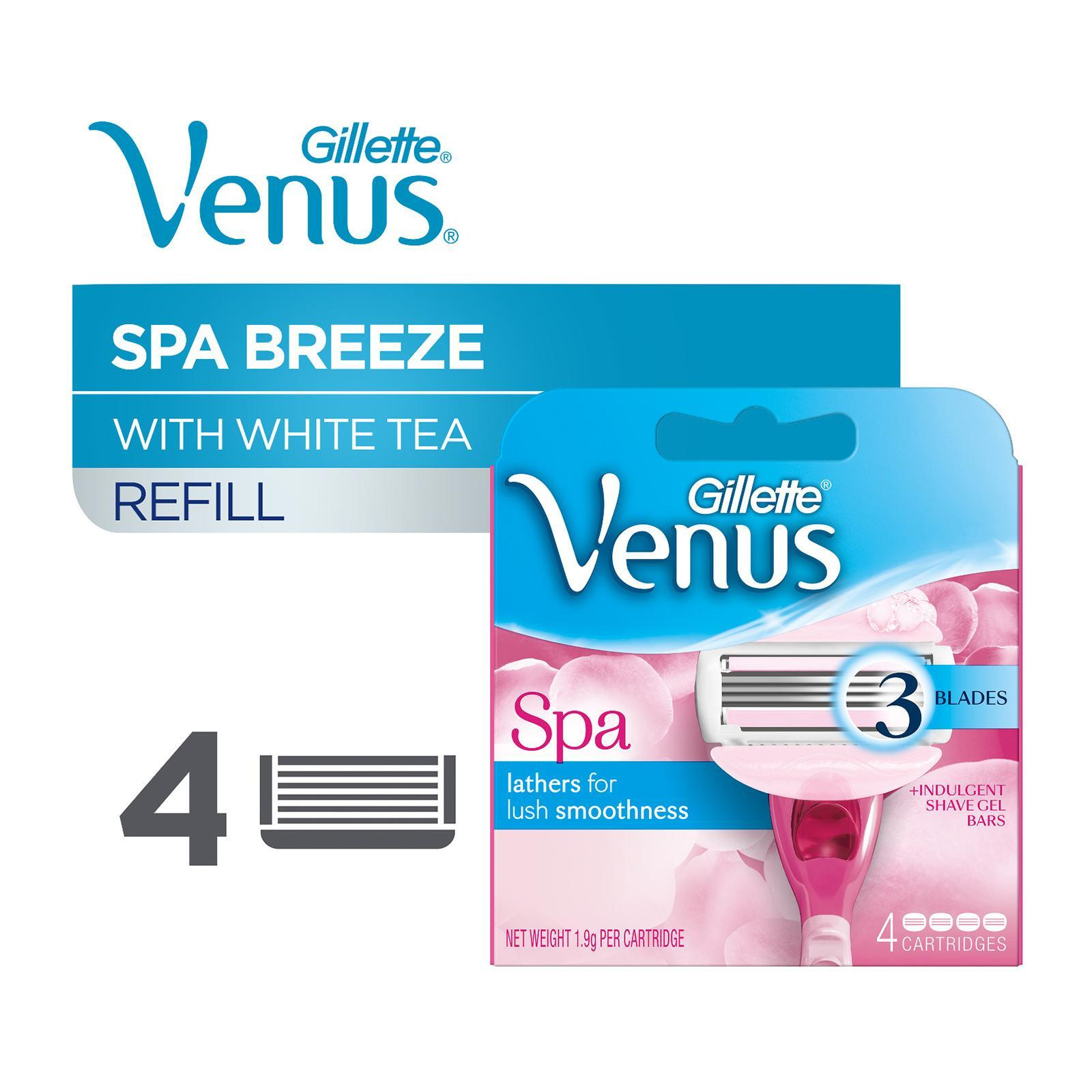GILLETTE VENUS venus spa breeze razor cartridges 4s