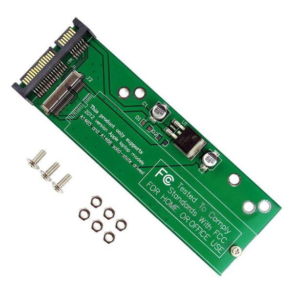 Adapter Card to SATA for 2012 Apple MacBook Air A1465 A1466 SSD