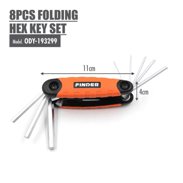 FINDER - 8pcs Folding Hex Key Set