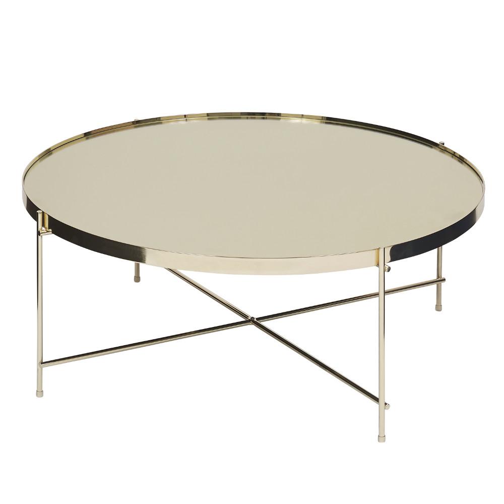 Dia. 82.5cm Oakland Round Mirror Top Coffee Table