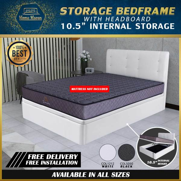 Storage Bed Frame 10.5 inches Internal height