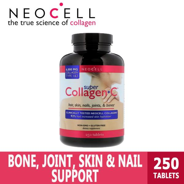 Buy Neocell | Super Collagen Type 1 & 3 | For Strong Hair and Nails | GMP Certified Gluten Free | 6000 mg 250 Tablets Singapore