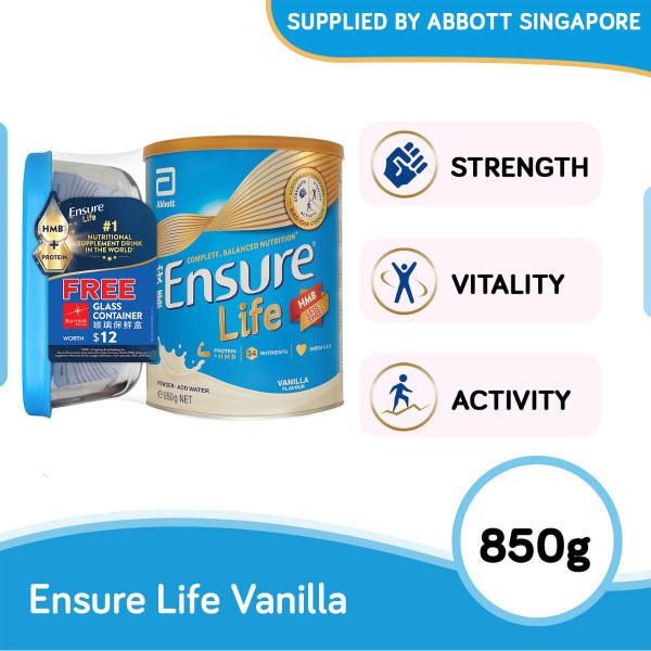 Buy Ensure Life Vanilla 850g with free Bormioli Rocco Glass Container worth $12 Singapore
