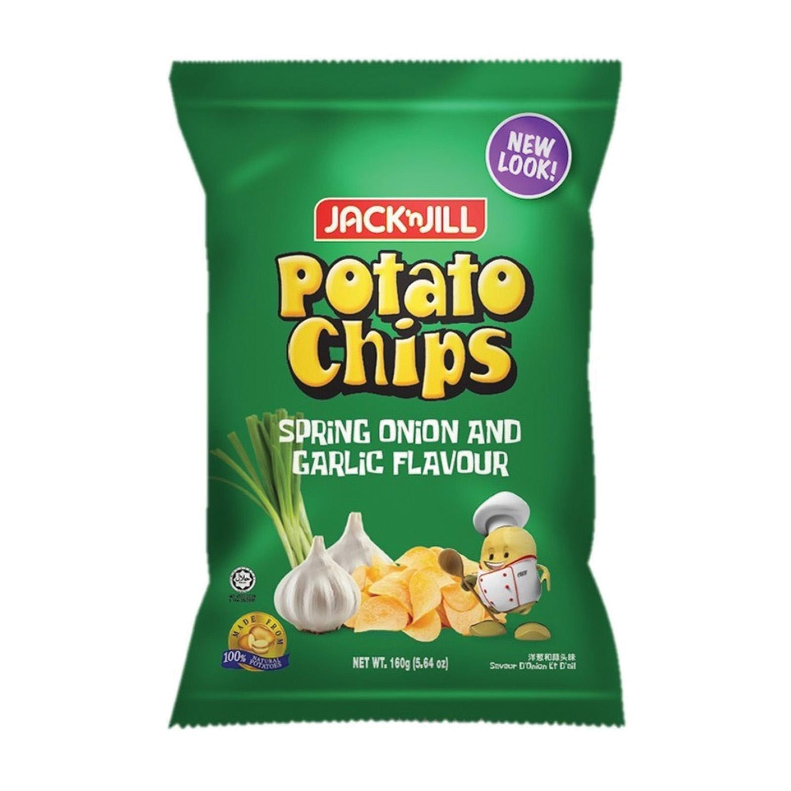 Jack N' Jill Spring Onion and Garlic Flavour Potato Chips