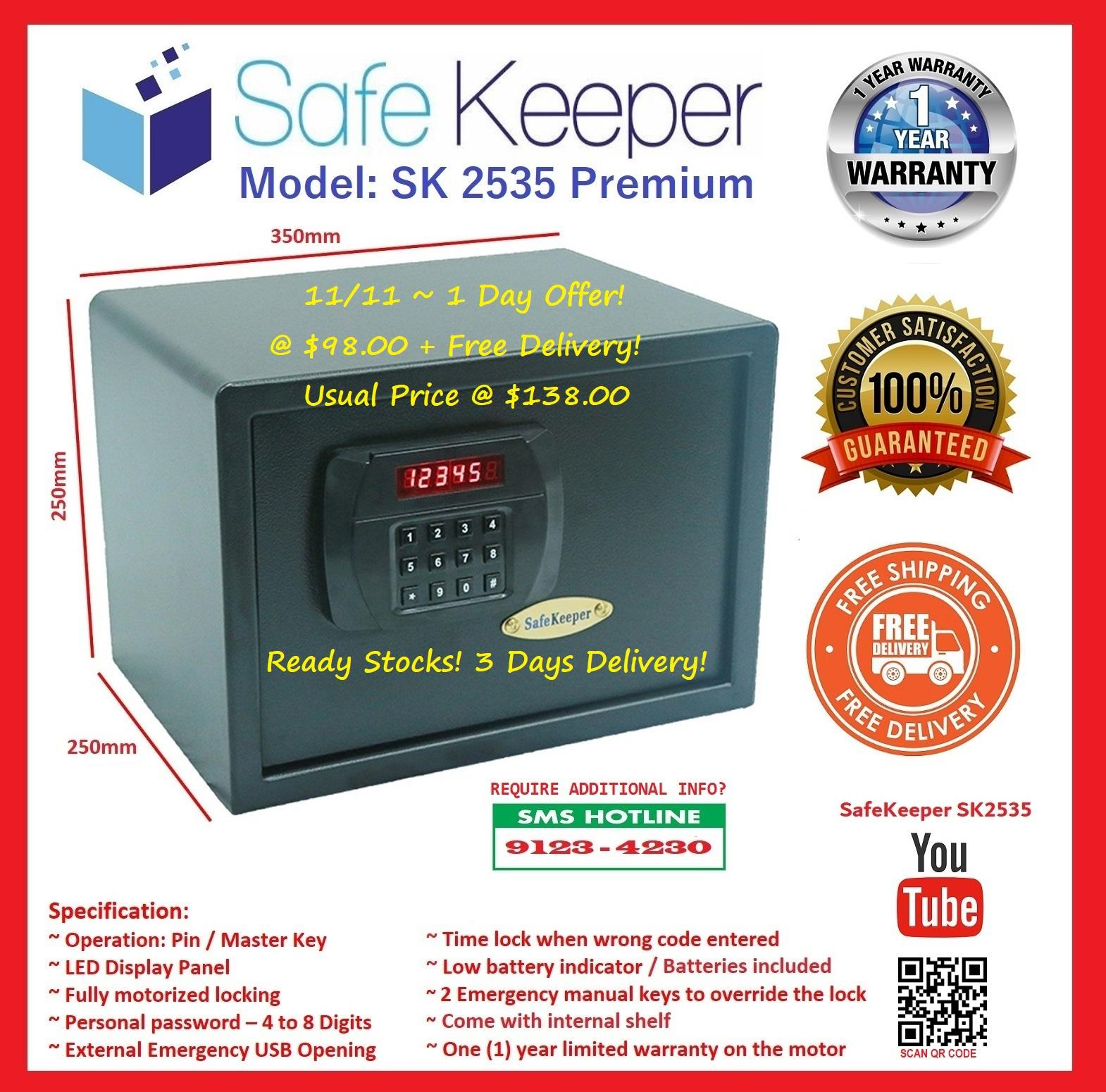 SafeKeeper SK2535 Medium Safe ( 100% New Product!) (Usual Price @ $138.00) But Now!!!!Promotion @ $108.00 ( Save $40) ( Color: Black ) (3~5 Working Days) (100% Brand New Product)