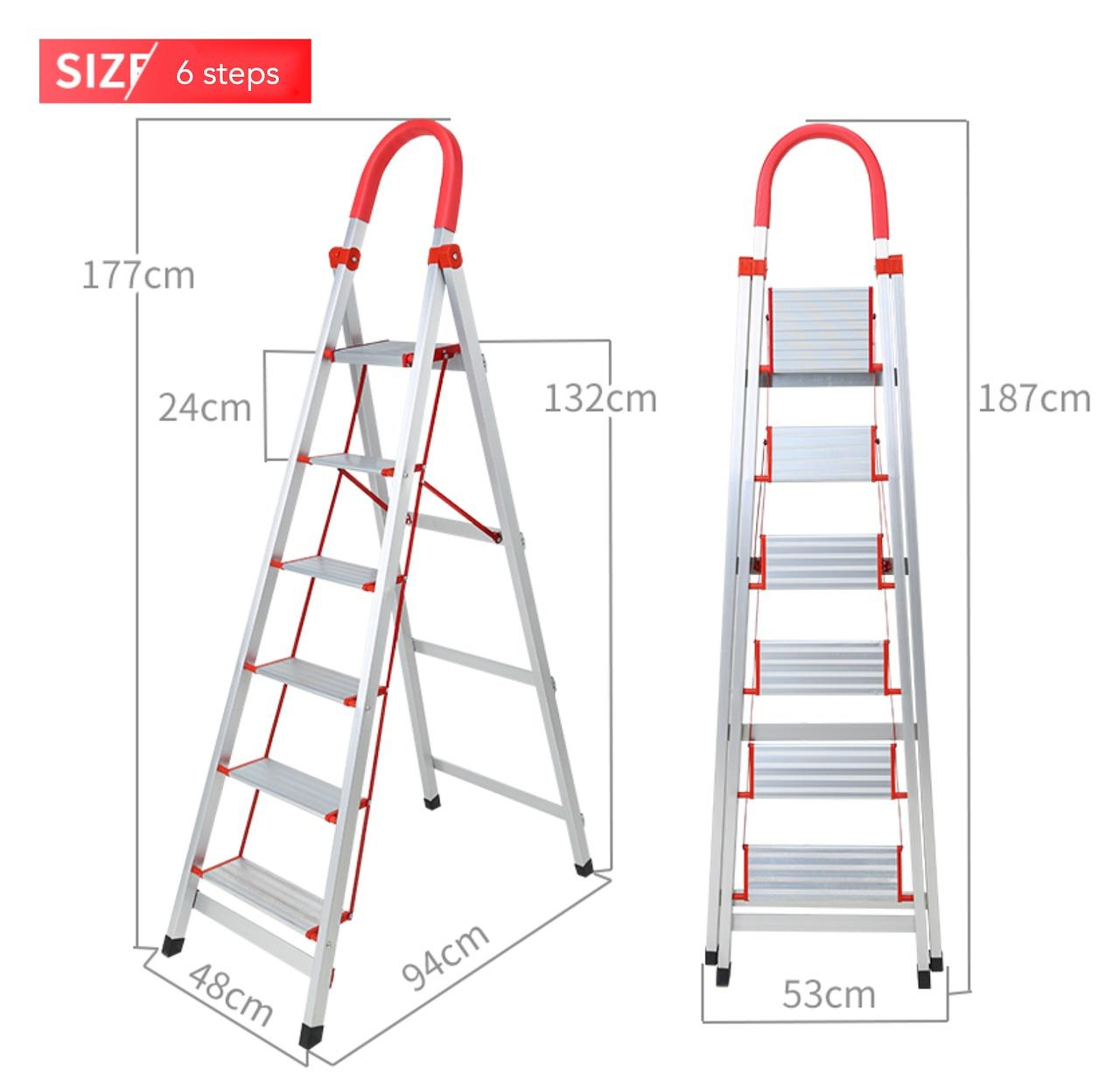Light Aluminium Ladder with Grip Handle 6-Step