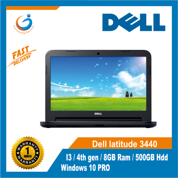 Dell latitude 3440 I3/ 4th gen/8GB Ram/500GB Hdd/Windows 10 PRO/FREE Mouse and Bag
