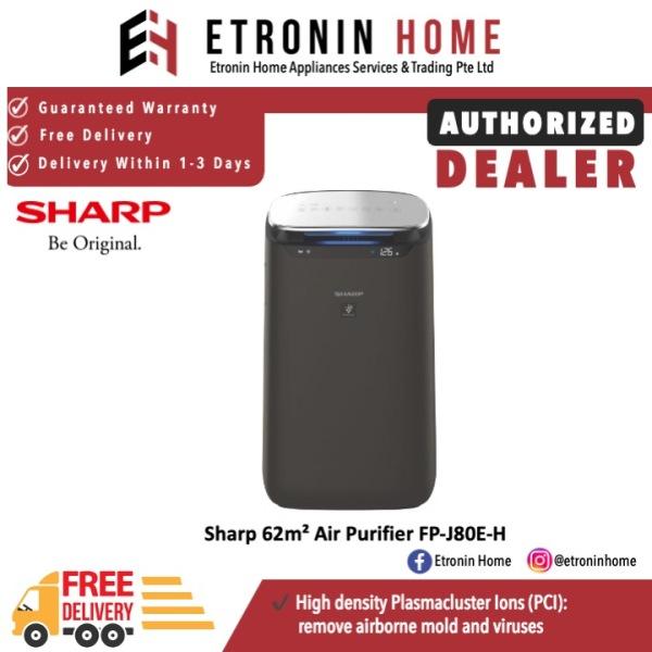 Sharp 62m² Air Purifier FP-J80E-H Singapore