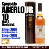 Top 10 Aberlour Speyside 10 Years Whisky Single Malt In Gift Cannister Cheapest In Sg
