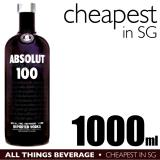 Sales Price Absolut 100 Vodka 1000Ml Cheapest In Sg