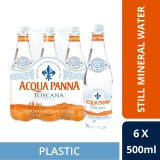 Buy Acqua Panna Natural Mineral Water 500Ml Plastic Bottle Pack Of 6 Singapore