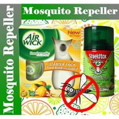Air Wick Citrus Freshmatic Automatic Spray Starter Kit Bundle With Shieldtox Naturgard Automatic Mosquitoes Insect Control System Refill 280ml Set [bundle Pack] By Hardwarecity Online Store.