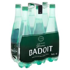 Badoit Sparkling Natural Mineral Water - 6 x 1L