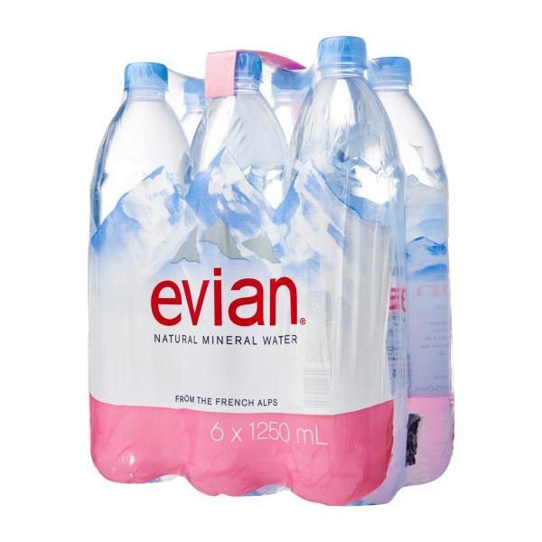 Evian Prestige Natural Mineral Water - 6 x 1.25 L