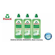 Frosh Green Lemon Dishwashing Liquid (3pcs X 750ml ). By Frosch.sg.