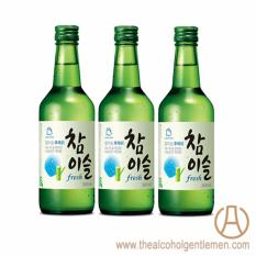 Jinro Chamisul Fresh Soju (3 Bottle X 360ml) By The Alcohol Gentlemen.