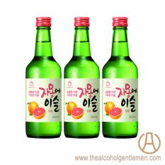 Jinro Chamisul Grapefruit Soju (3 Bottle X 360ml) By The Alcohol Gentlemen.