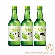 Jinro Chamisul Green Grape Soju (3 Bottle X 360ml) By The Alcohol Gentlemen.