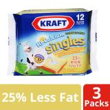 Buy Kraft Singles Hi Calcium Less Fat Cheese Slices Pack Of 3 250G Each Online Singapore