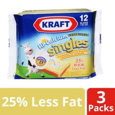 Price Kraft Singles Hi Calcium Less Fat Cheese Slices Pack Of 3 250G Each Singapore