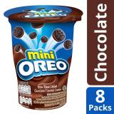 Mini Oreo Cream Filled Chocolate Sandwich Cookies Chocolate Flavored Cream Pack Of 8 67G Each Lowest Price