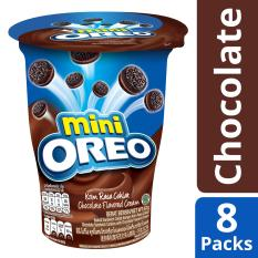 Best Offer Mini Oreo Cream Filled Chocolate Sandwich Cookies Chocolate Flavored Cream Pack Of 8 67G Each