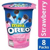 Price Mini Oreo Cream Filled Chocolate Sandwich Cookies Strawberry Flavored Cream Pack Of 8 67G Each Oreo New