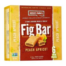 Natures Bakery Peach Apricot Fig Bar By Wholesome Harvest.