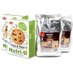 Nescafe White Coffee Refill 1 Kg Total Qty 2 X 1 Kg Bags Free 2 X Boxes Of Tatawa Nutri U Cookies Biscuits Price