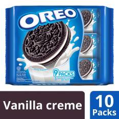 Sale Oreo Cream Filled Chocolate Sandwich Cookies Vanilla Creme 10 Units Of Multipack Having 9 Packs 264 6G Each Multipack Oreo Original