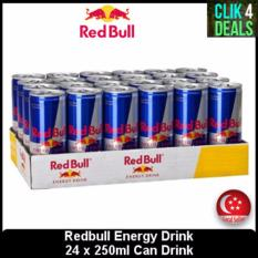 Redbull Energy Drink 24 X 250ml / Can Drinks / Singapore Seller / Vitalizes Body And Mind® By Clik-Clik Pte Ltd.