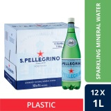 San Pellegrino Sparkling Natural Mineral Water 1L Plastic Bottle Case Of 12 On Line