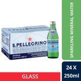 San Pellegrino Sparkling Natural Mineral Water 250Ml Glass Bottle Pack Of 24 Deal