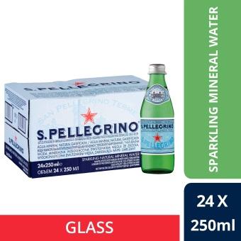 San Pellegrino Sparkling Natural Mineral Water 250ml Glass Bottle (Pack Of 24)