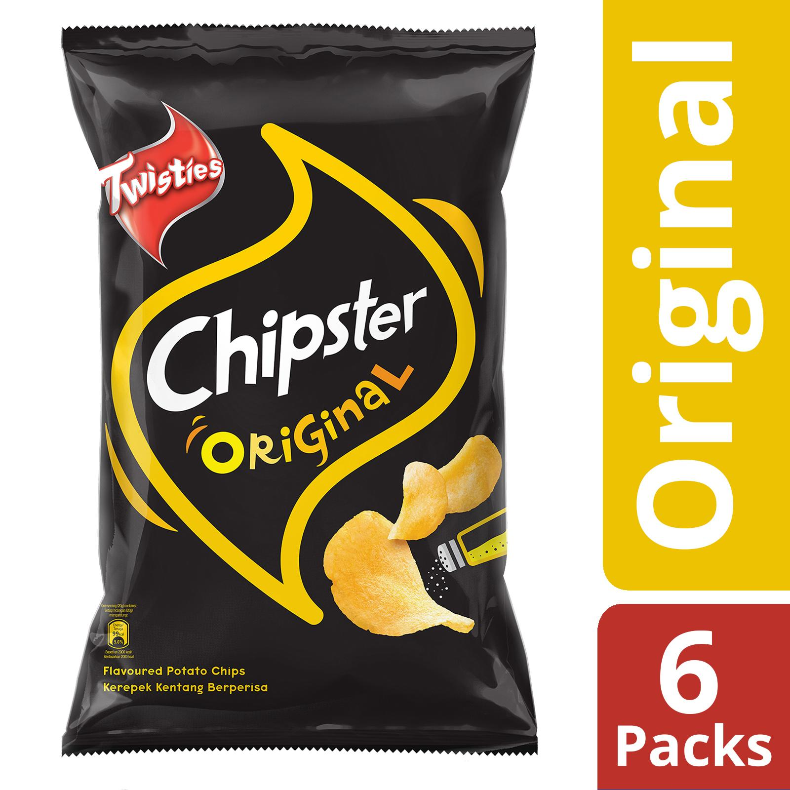 Twisties Chipster Crisp Potato Chips, Original, Pack Of 6, 160g Each By Mondelez Official Store.