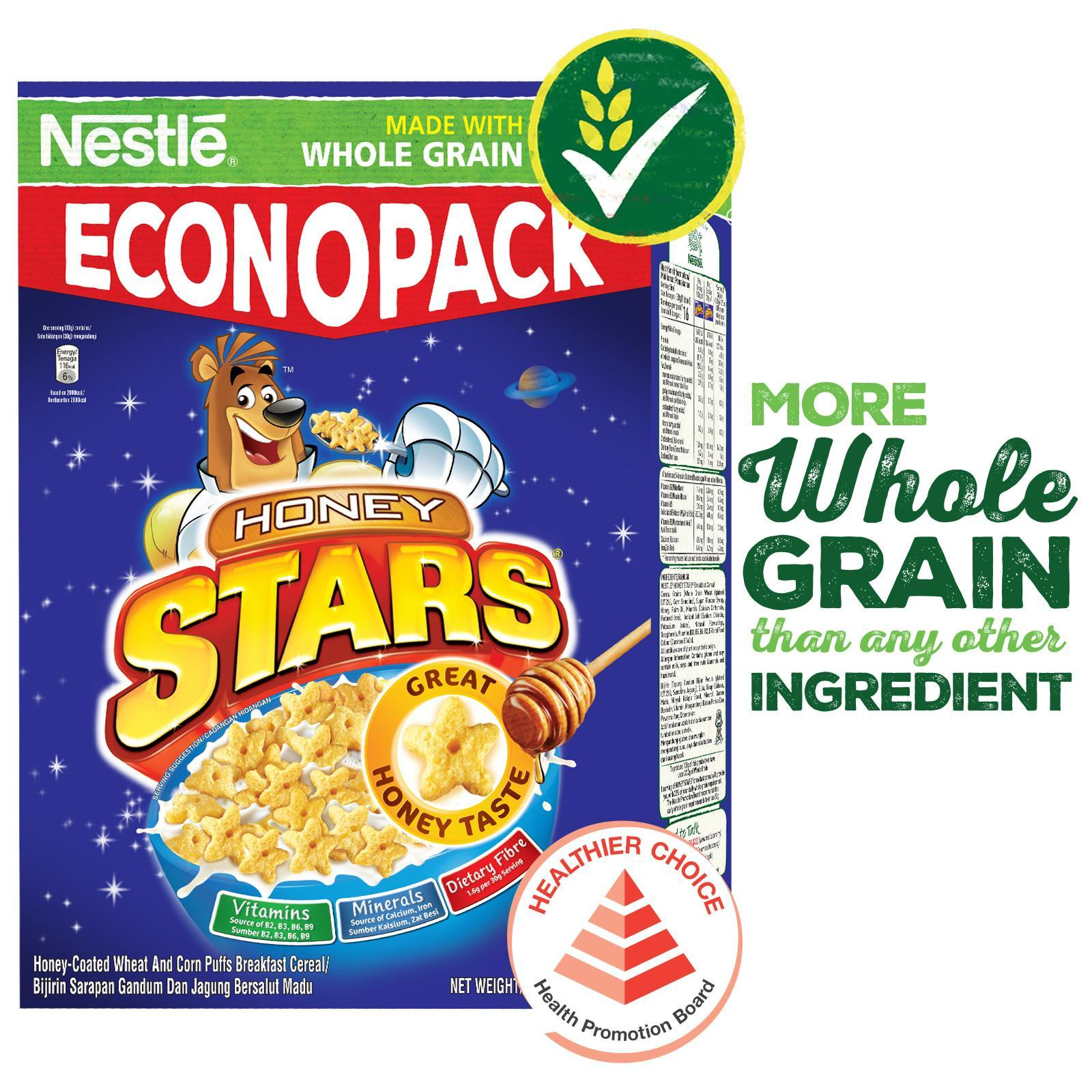 Nestle Honey Stars Cereal With Whole Grain (500g) By Redmart.