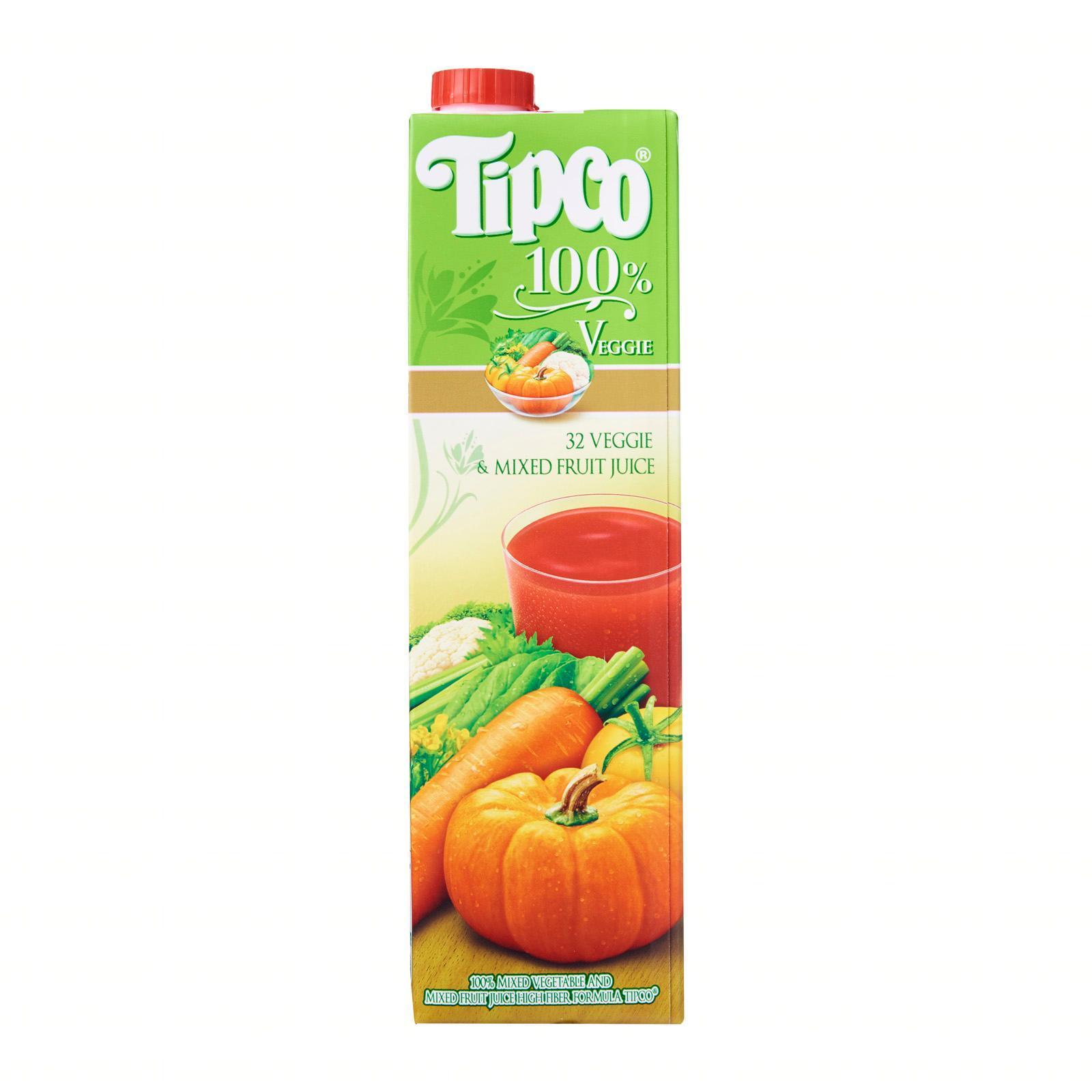 TIPCO 100-Percent 32 Veggie And Mixed Fruit Juice