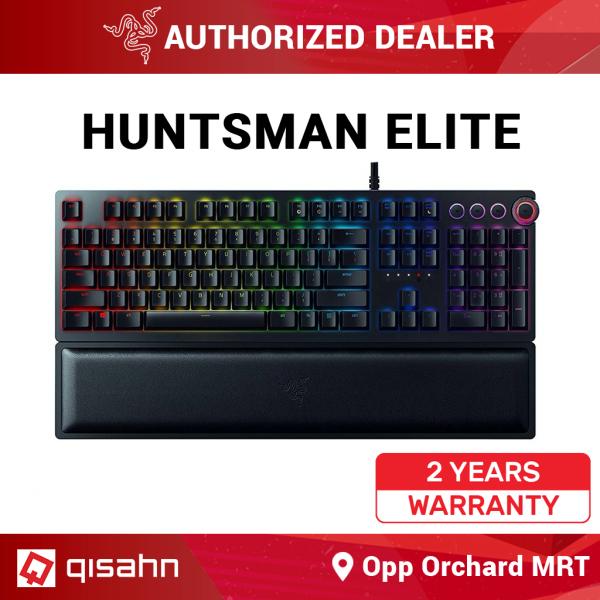 Razer Huntsman Elite Gaming Keyboard: Fastest Keyboard Switches Ever - Linear Optical Switches - Chroma RGB Lighting - Magnetic Plush Wrist Rest - Dedicated Media Keys & Dial Singapore
