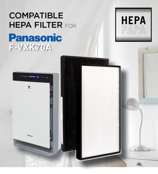 Panasonic F-VXK70A Compatible Replacement HEPA filter [Free Alcohol Swab] [SG Seller] [7 Days Warranty] [HEPAPAPA] Singapore