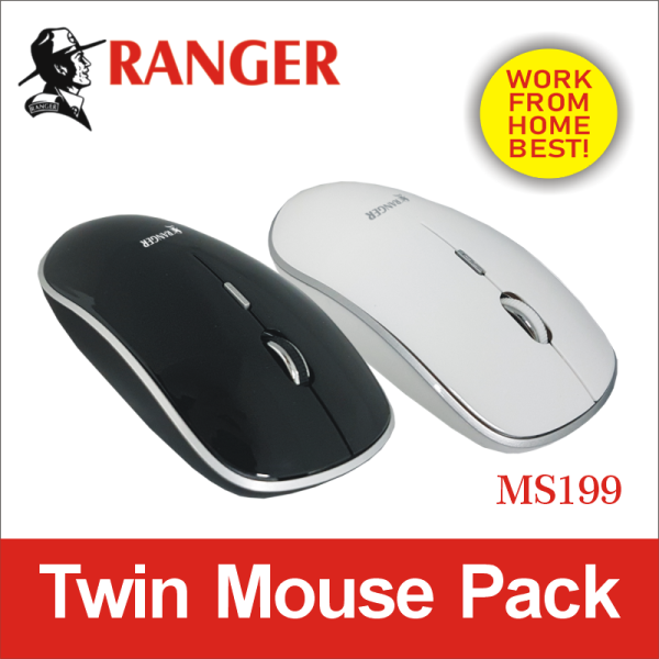 Ranger Wireless Mouse Twin Pack-MS199 . Ex-stock.Free Delivery. Normal 2-3 work