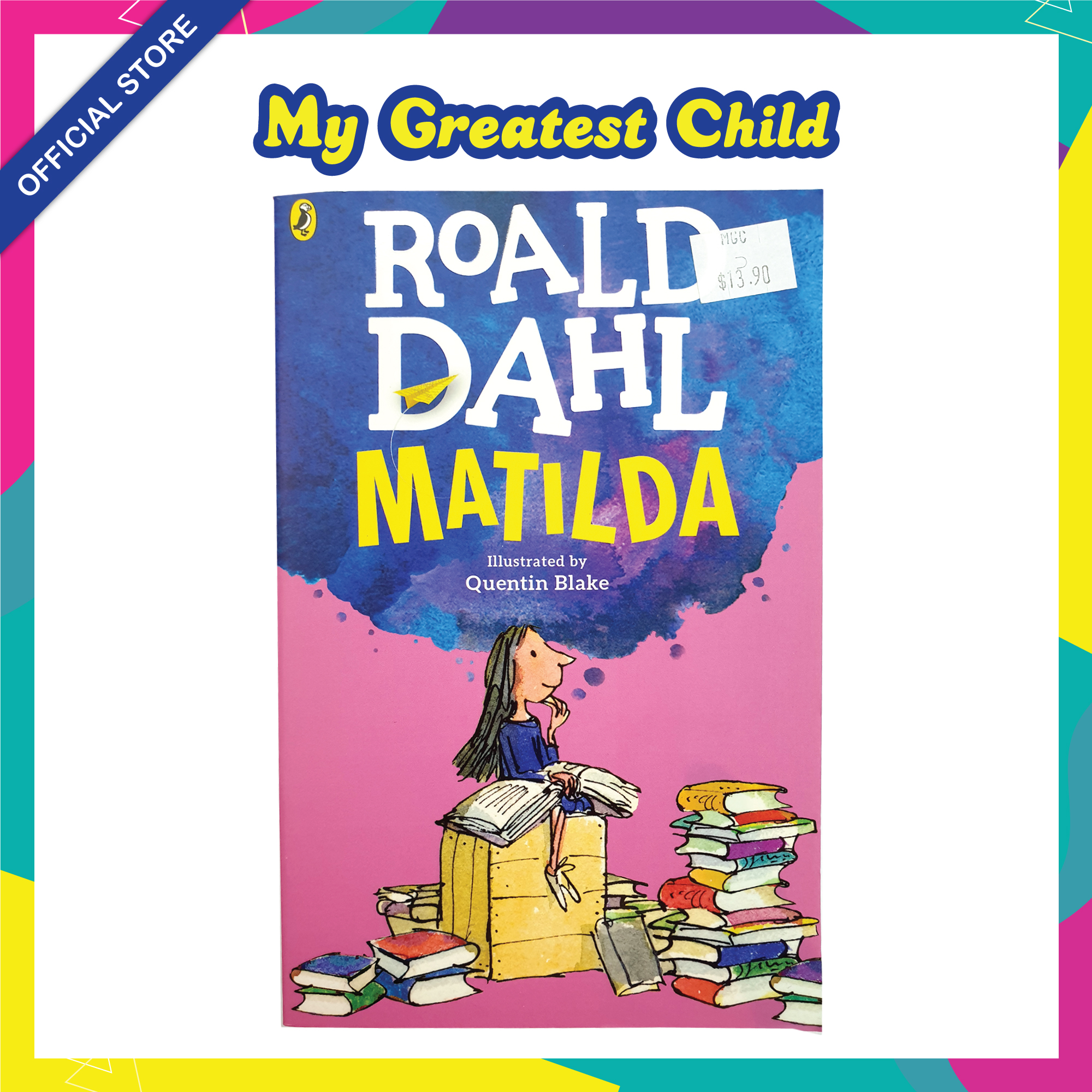 Matilda - Roald Dahl English Paperback Childrens Book (For Ages 7+)