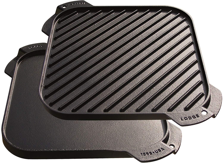 Lodge LSRG3 Cast Iron Single-Burner Reversible Grill/Griddle