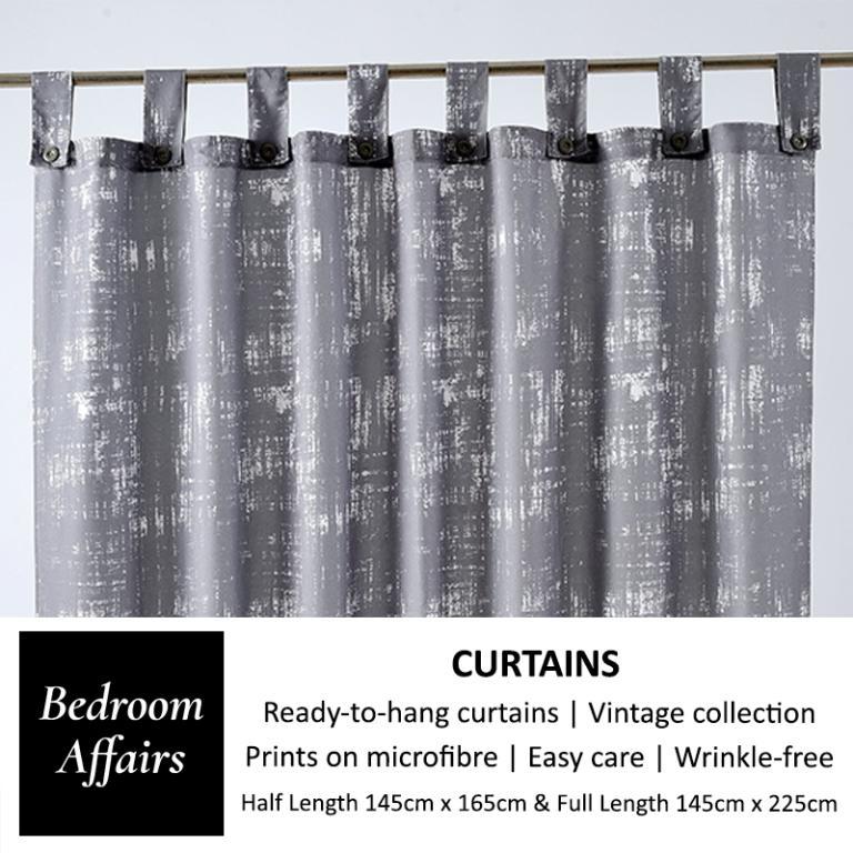 RINCO BONINGTON Rust Grey Curtain (Half Length)