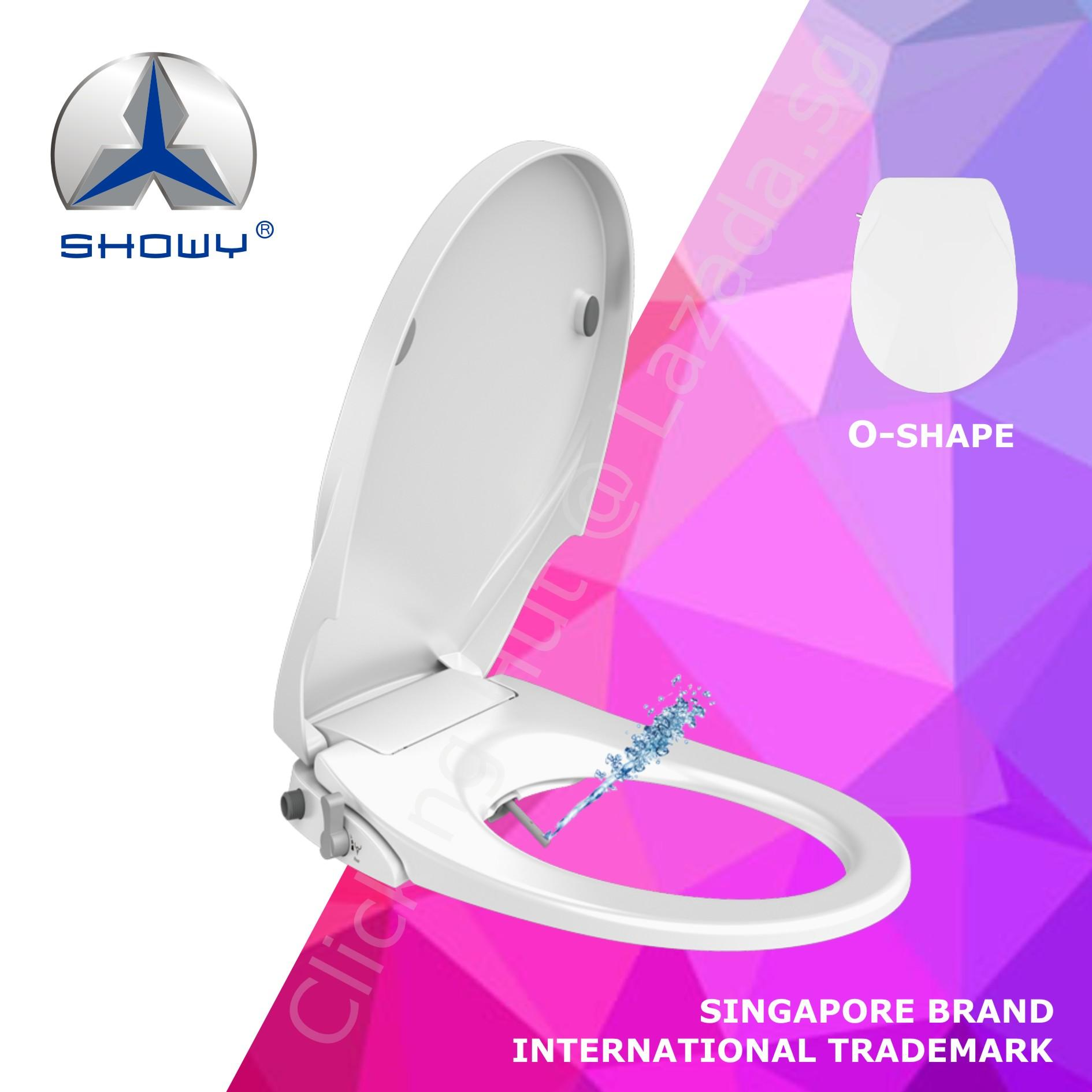 Showy Bidet Toilet Seat - Non-Electric/manual Control (a Singapore Brand) By Clicking Hut.