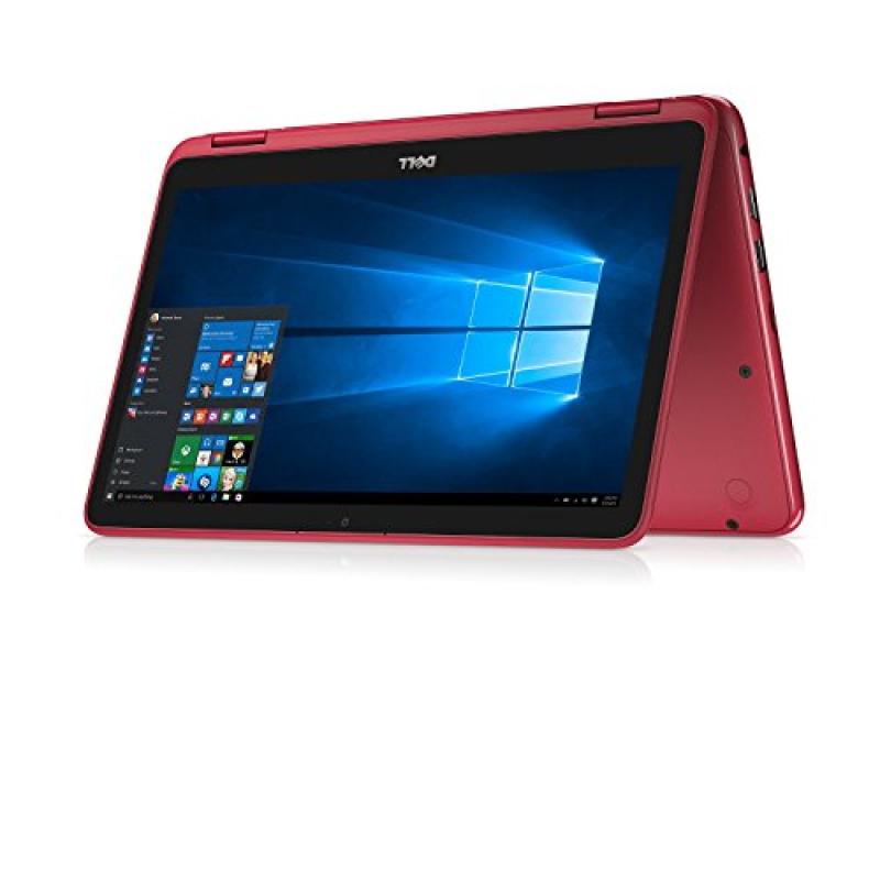 Dell Inspiron Business 2 in 1 Laptop PC 11.6  Touchscreen Intel Pentium N3710 Quad-Core Processor 4GB RAM 500GB HDD Wifi HDMI Bluetooth Webcam Windows 10-Red