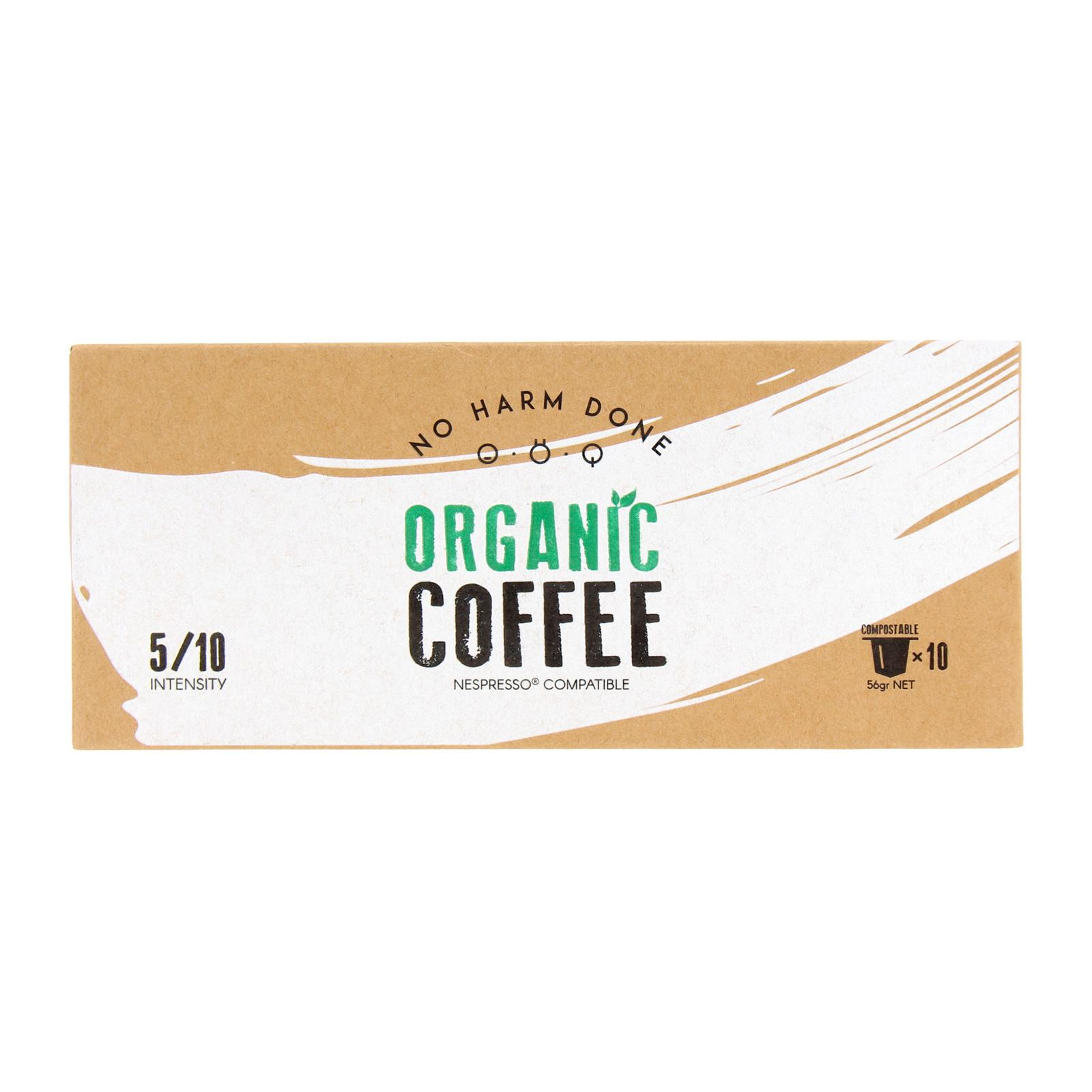 No Harm Done Organic Coffee Intensity 5 - Compostable Nespresso Compatible Coffee Capsules