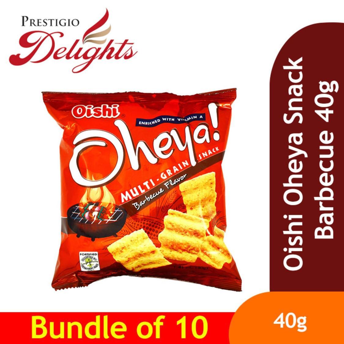 Oishi Oheya Snack Barbecue 40g Bundle Of 10 By Prestigio Delights.