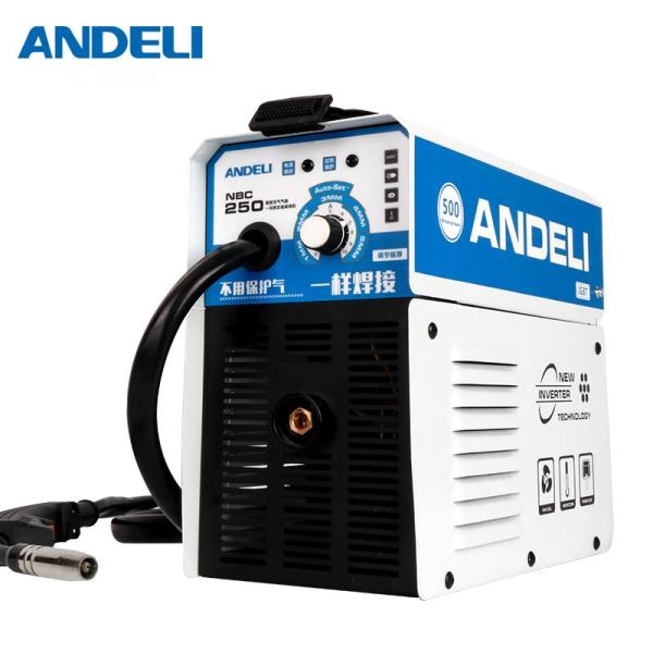 ANDELI Digital Household Single Phase MIG-250E Mini MIG Welding Machine Welding without Gas Flux Core Wire Inverter Welder
