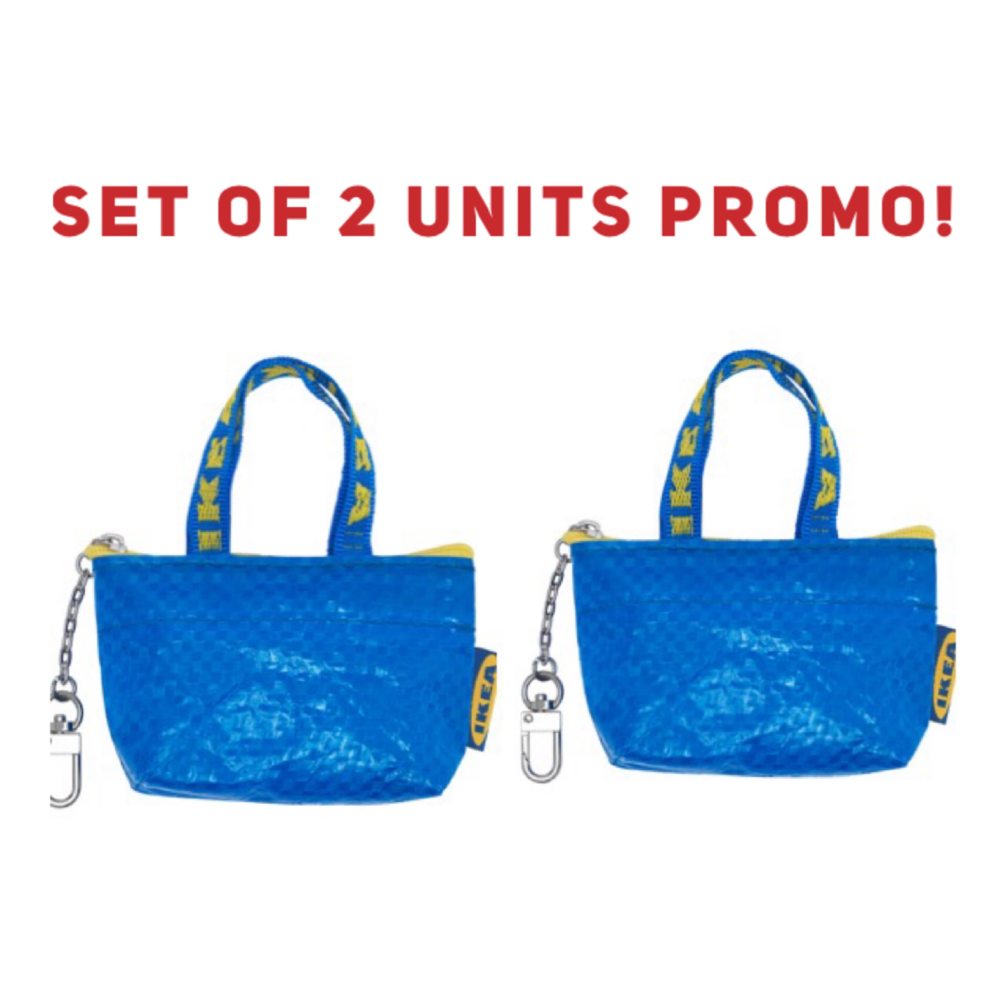 IKEA mini tote Knolig bag keychain Promo Set of 2